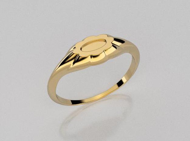 3D designed flower ring