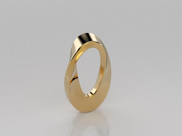 3D designed mobious curve pendant