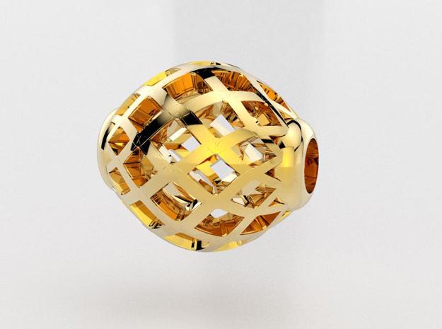 3D designed Oval ball pendant