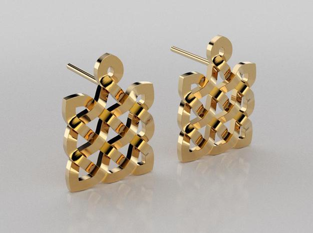3D designed celtic earrings
