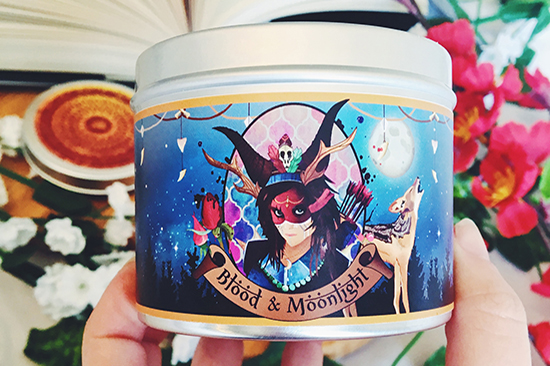 Iskari blood and moonlight scented candle.