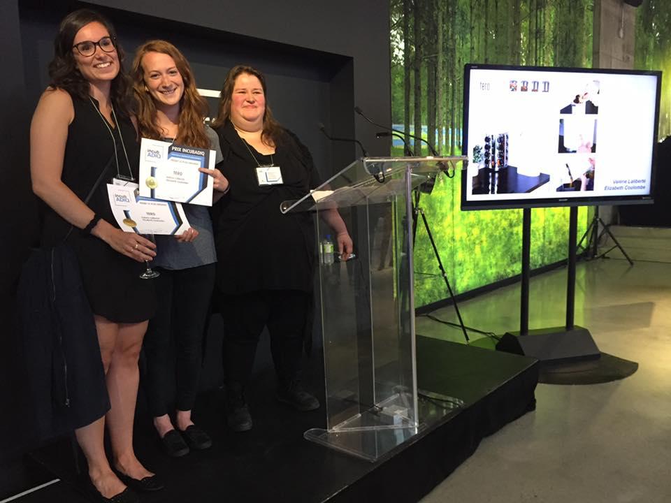 Elizabeth et Valérie remporte le prix du projet le plus original au concours Incubadiq
