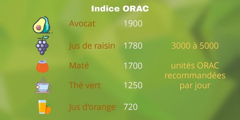 Indice ORAC du maté - Antioxydant