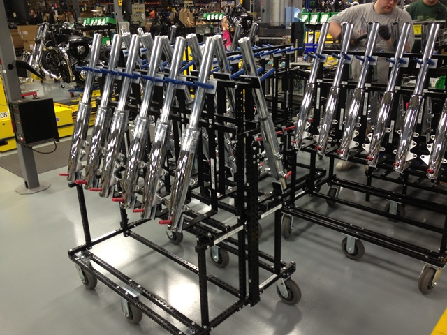 Vertical Tip Back Parts Cart