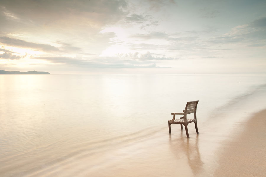 Inner Healing photo of lone chair on beach