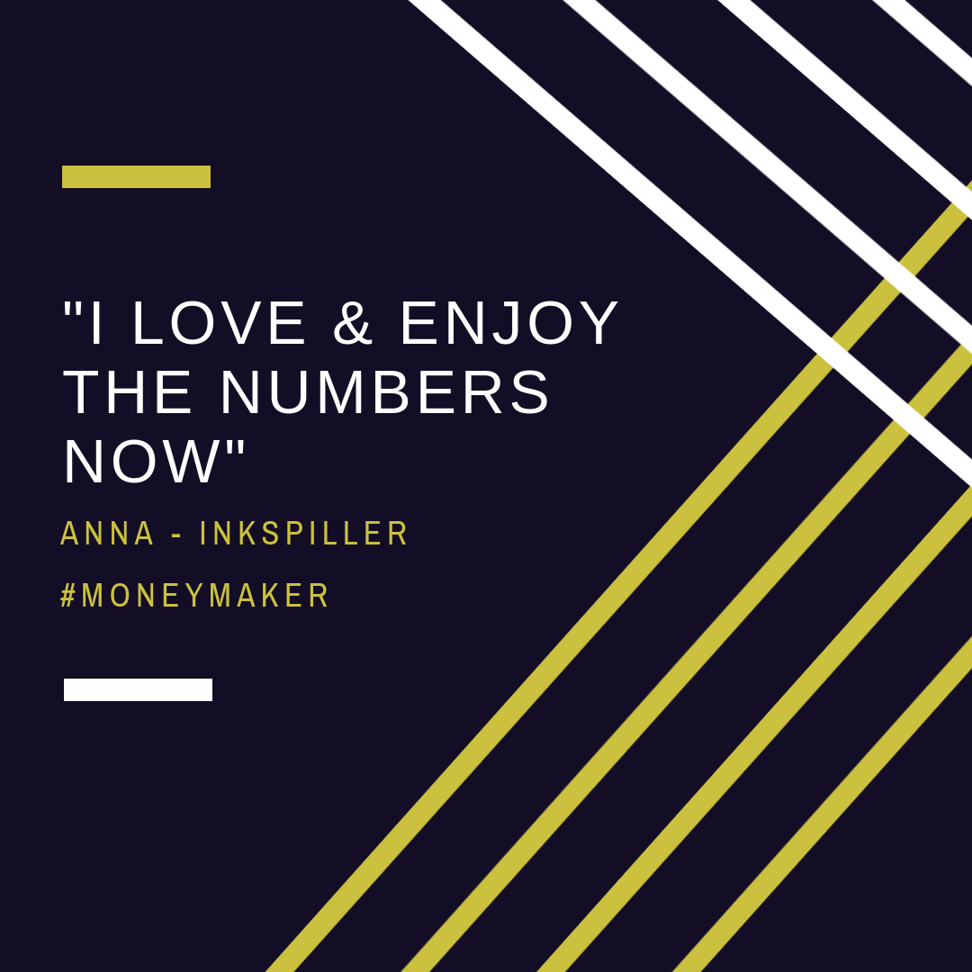 I love and enjoy the numbers now - testimonial by Anna from Inkspiller