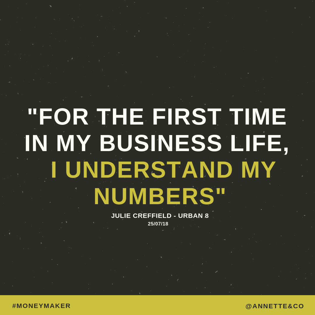 For the first time in my business I understand my numbers - Julie from Urban B