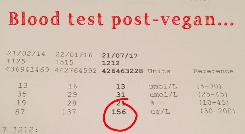 Blood Test Post-Vegan