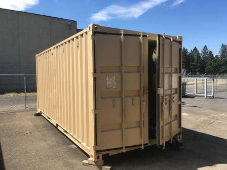 Shipping container coating