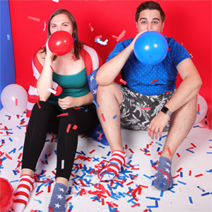 fourth of july fireworks decorations   MeMoi Women & Men's Socks