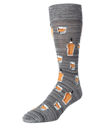 Whiskey Bar Conversational Socks   MeMoi Men's Novelty Socks