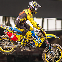 justin hill on his jgr suzuki at anaheim 1