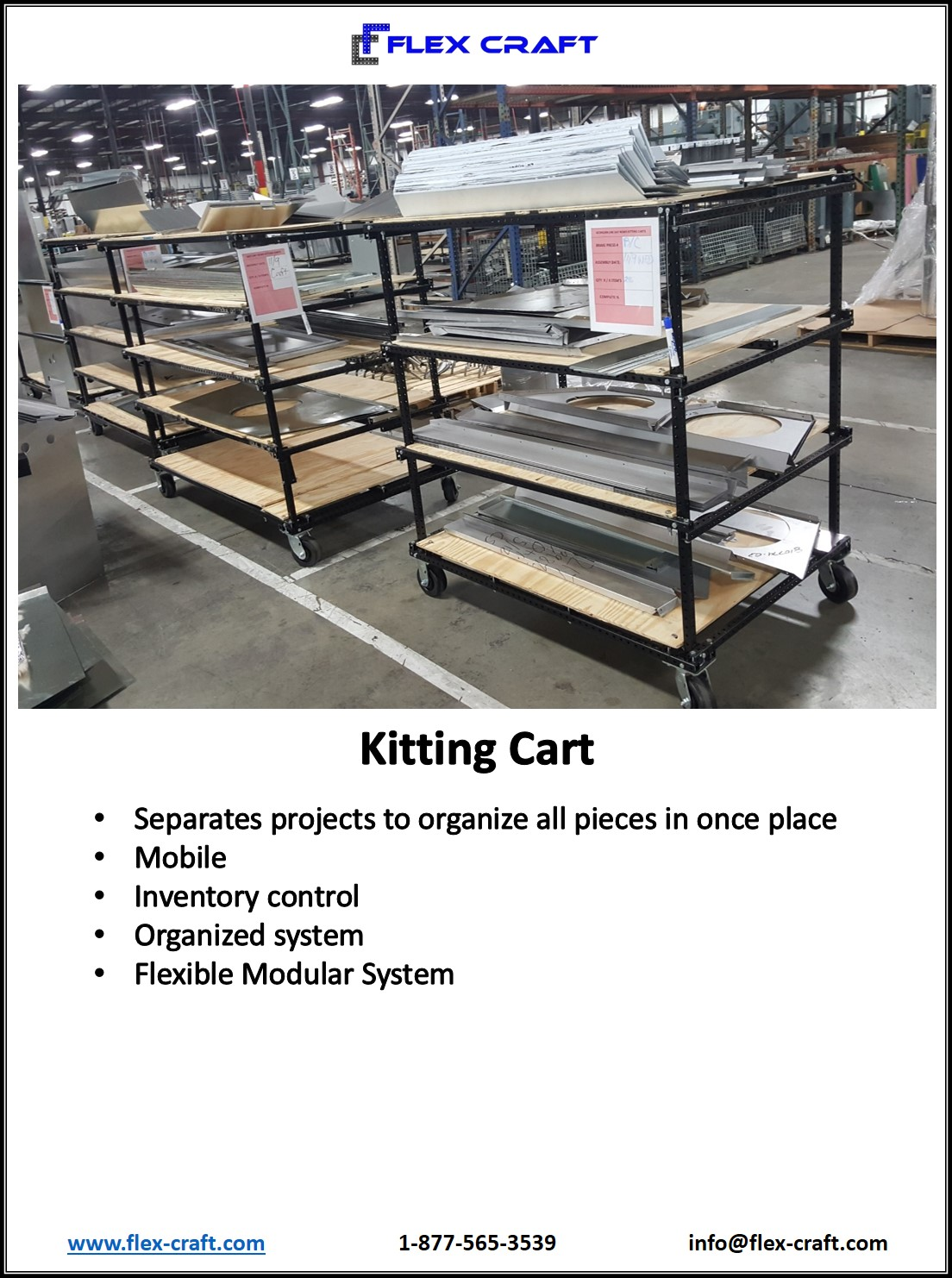 Mobile Kitting Carts Modular Shelving