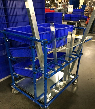 Custom Kitting Cart