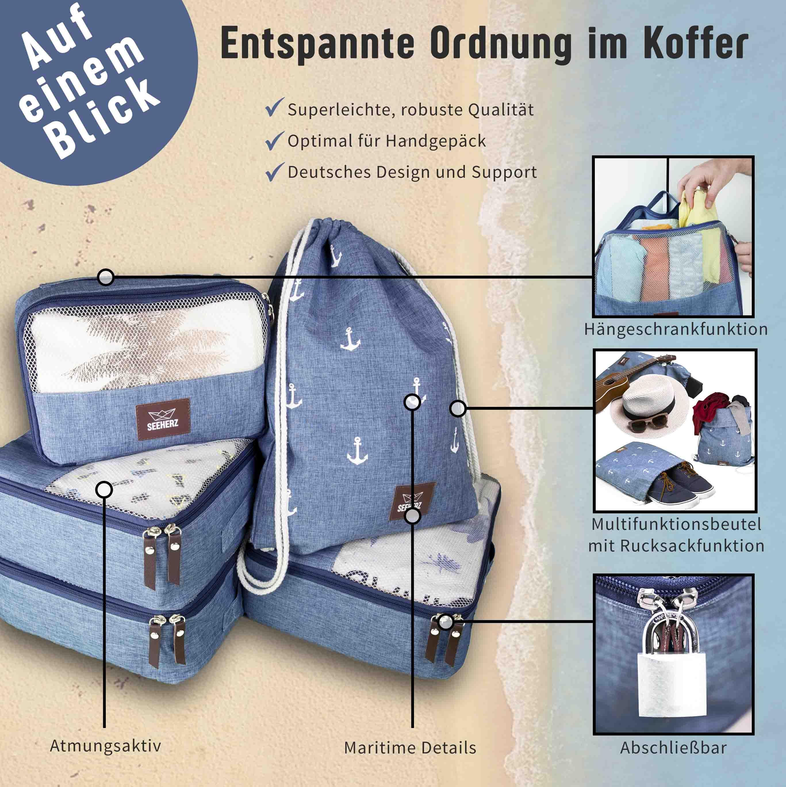 Kofferorganizer Vorteile von Seeherz