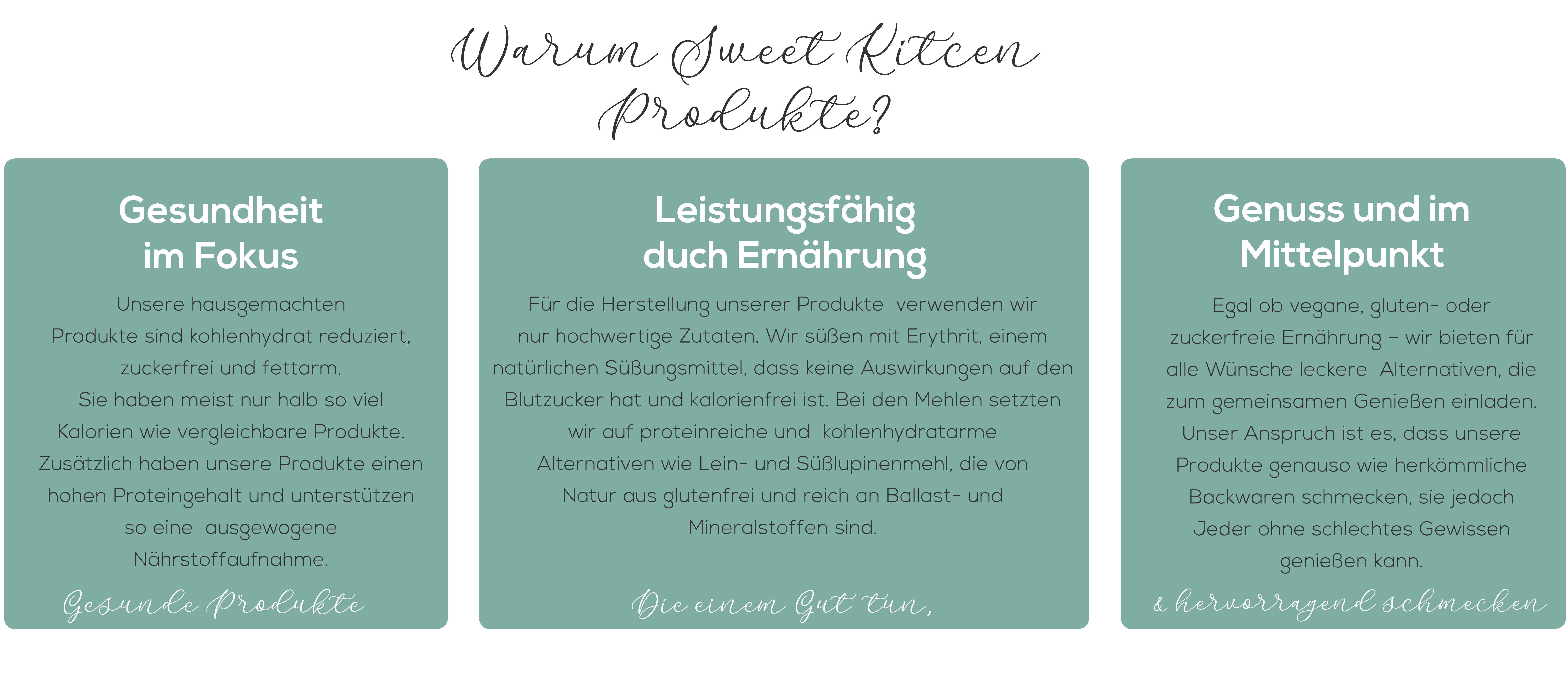 Warum Sweet Kitcen Produkte sweet kitcen für Unternehmen gesunde Produkte