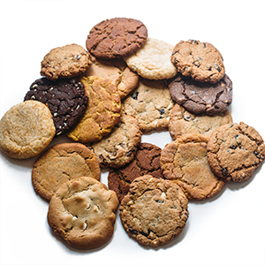 photo of large package of assorted cookies