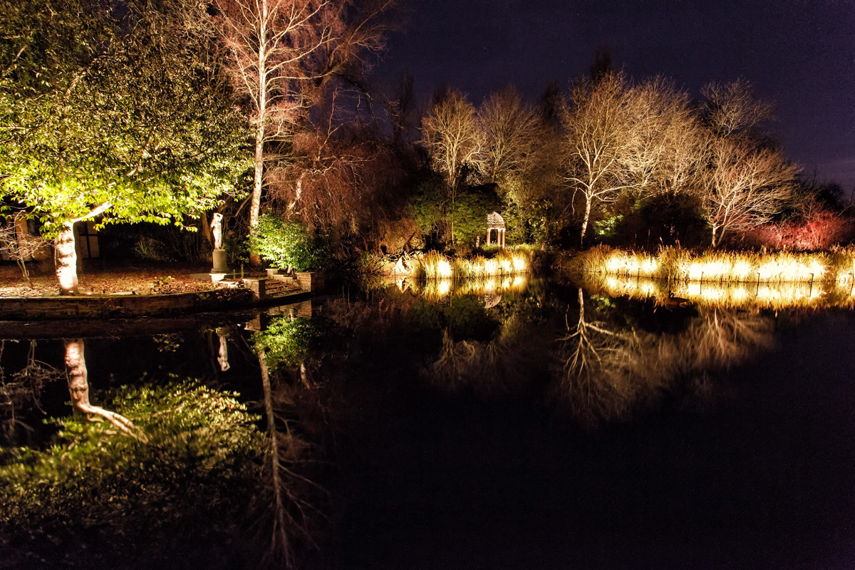 Exterior Garden Water Lighting Gallery - Light Visuals