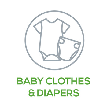 Baby Clothes & Diapers