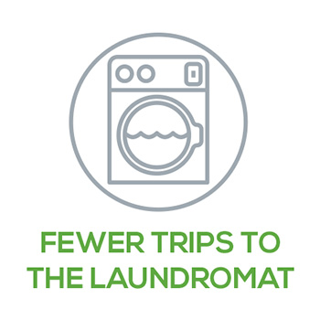 Fewer Trips to the Laundromat