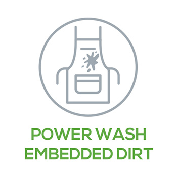 Power Wash Embedded Dirt