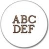 Bronze Letters Icon Global Bronze
