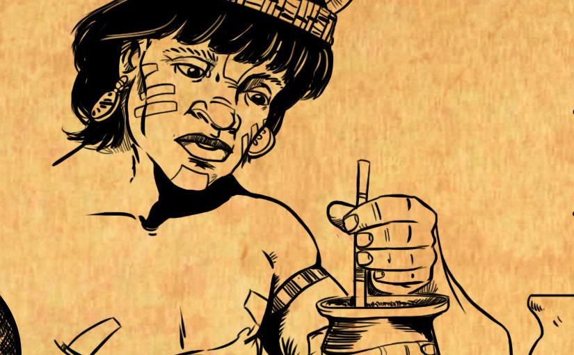 Guarani qui boit du maté