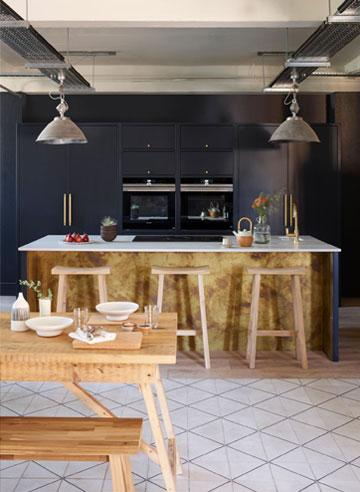Library Wooden Bespoke Kitchen