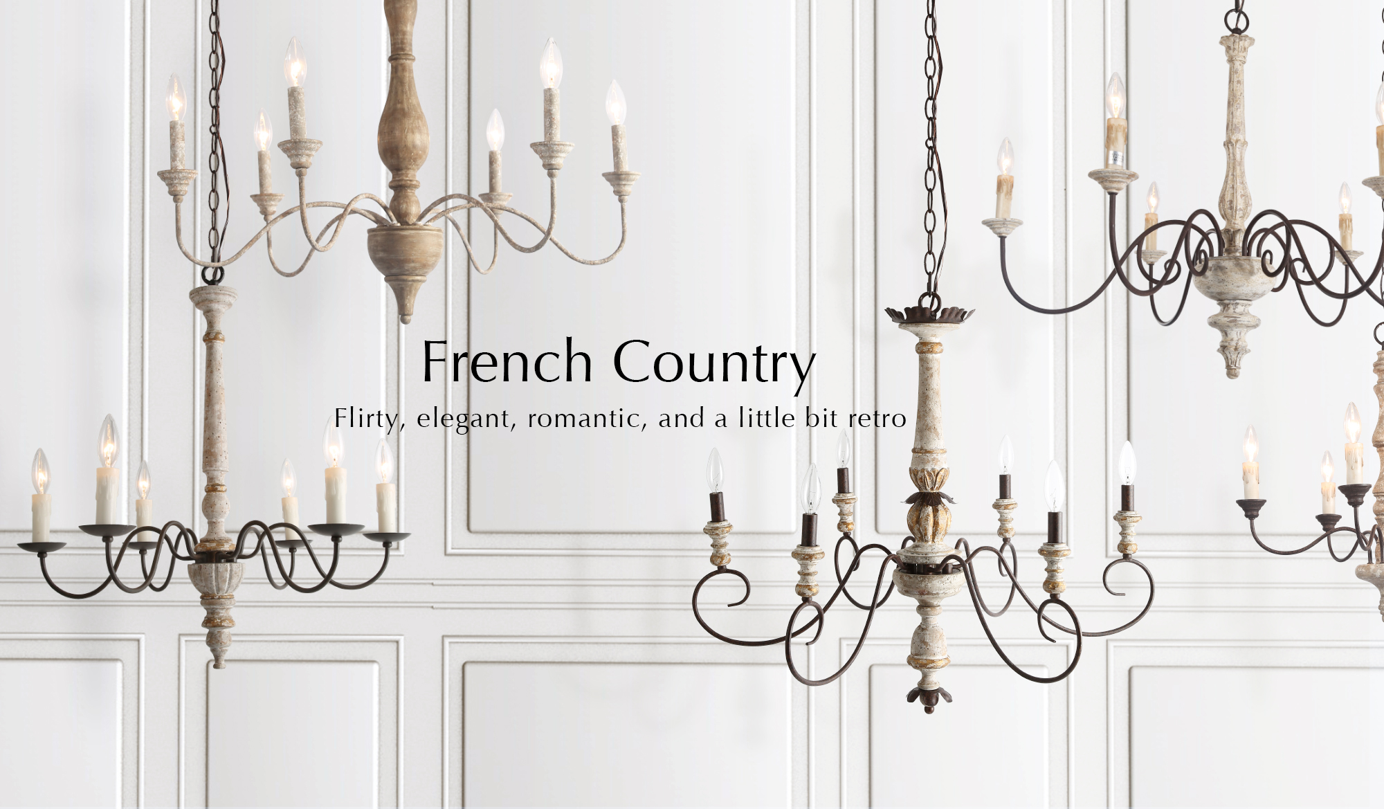 french country & shabby chic lighting