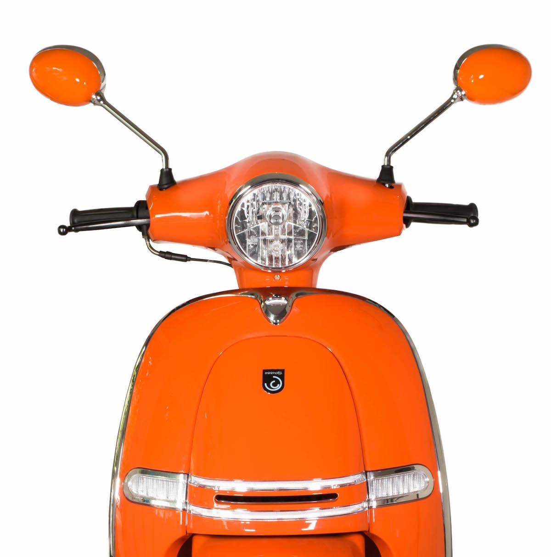 minimoto. LUXE - Motorroller mit 50ccm - Detailansicht Front