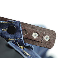Lynn Taylor Belt with jeans inserted into extender