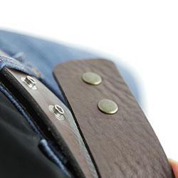 Lynn Taylor Belt, insert extender into jeans buttonhole