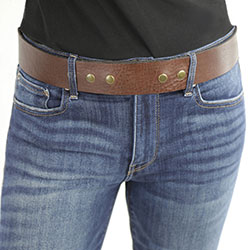 Lynn Taylor Belt, buckled on woman