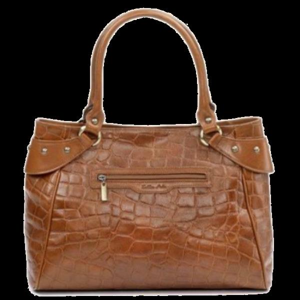 Zella Ash - Madison, Crocodile Embossed Leather Handbag