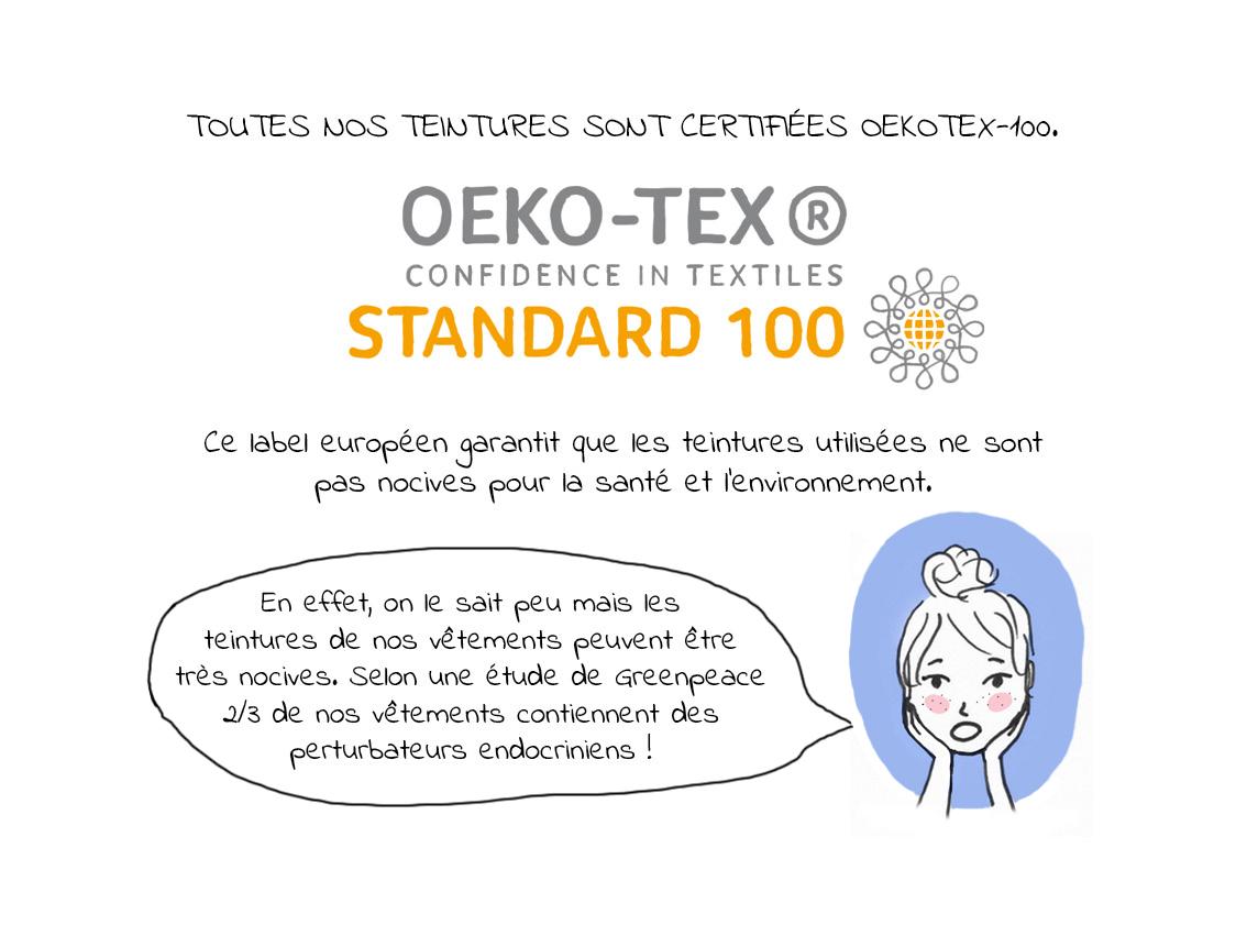 Nos teintures sont labellisées Oekotex-100
