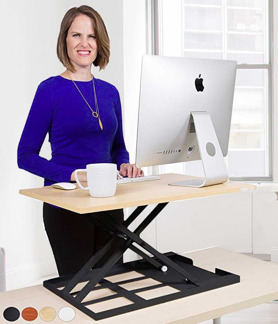 Stand Steady X-Elite Pro Maple Standing Desk