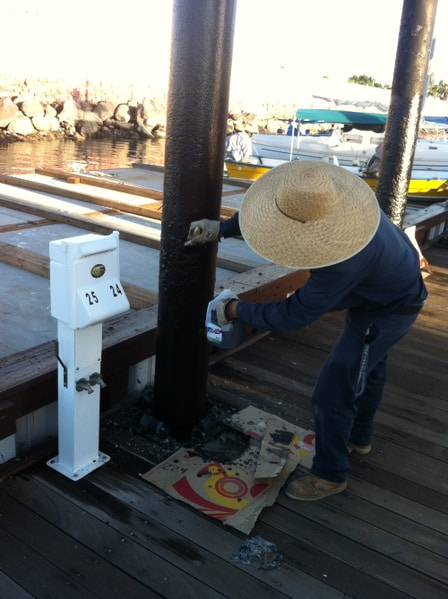 Building rubber waterproof coating marina