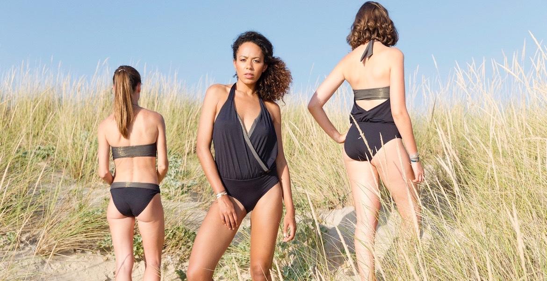 black swimsuit st tropez