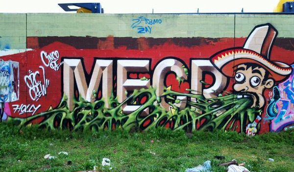 MECRO Graffiti Mural Art