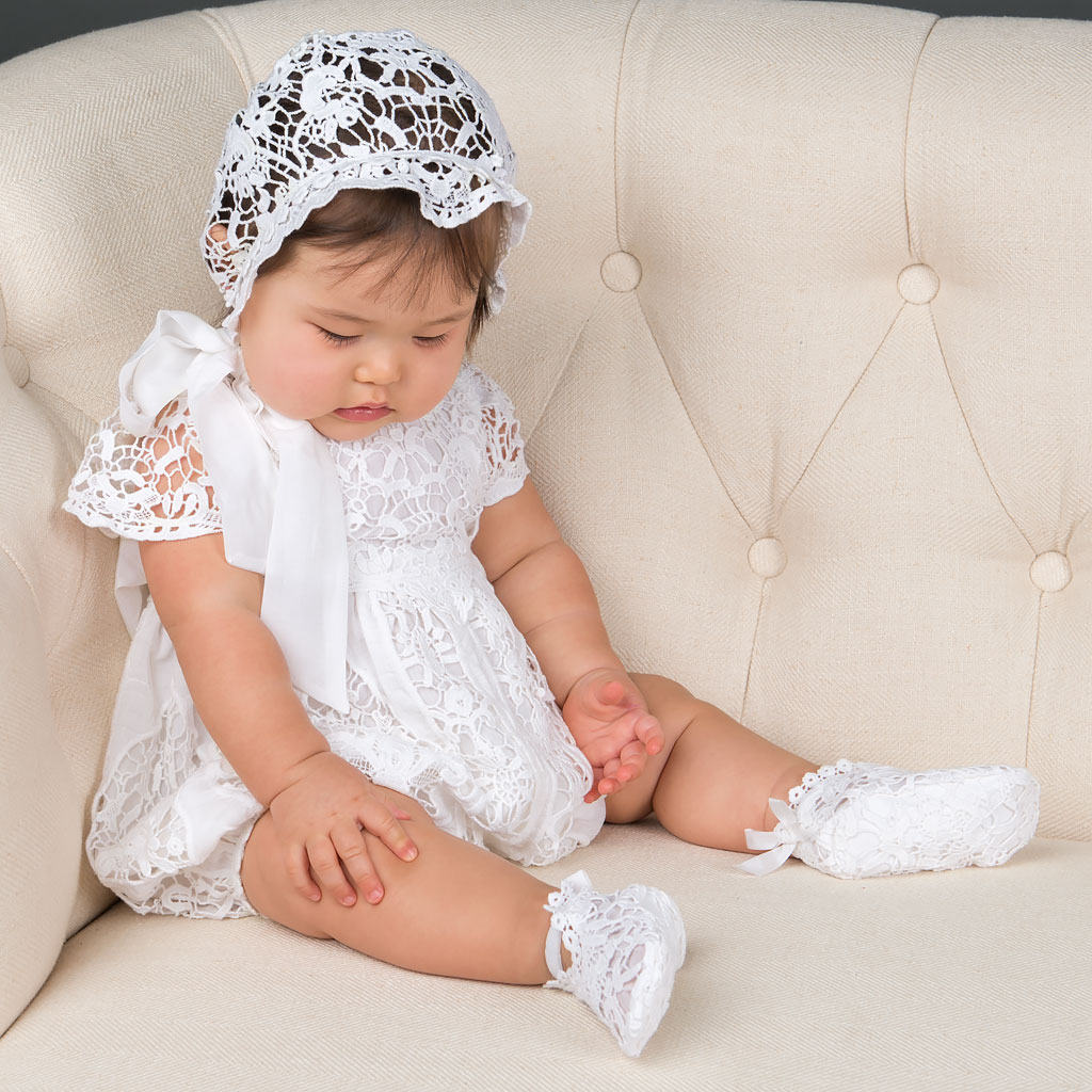Grace White Girls Christening Dress Collection