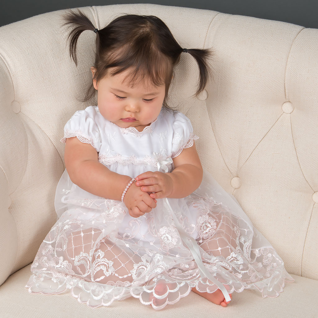 Joli Pink Girls Christening Dress Collection