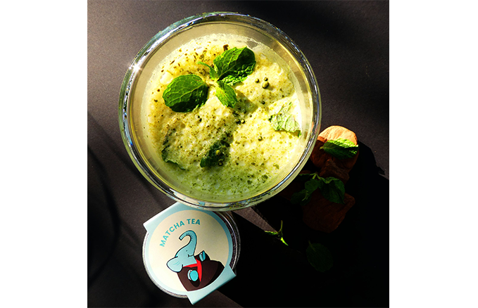 mint matcha smootie receipe