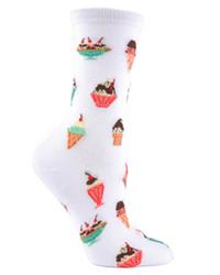 Sheer Beauty Rose Garden See-through Ankle Socks | MeMoi Women's Socks