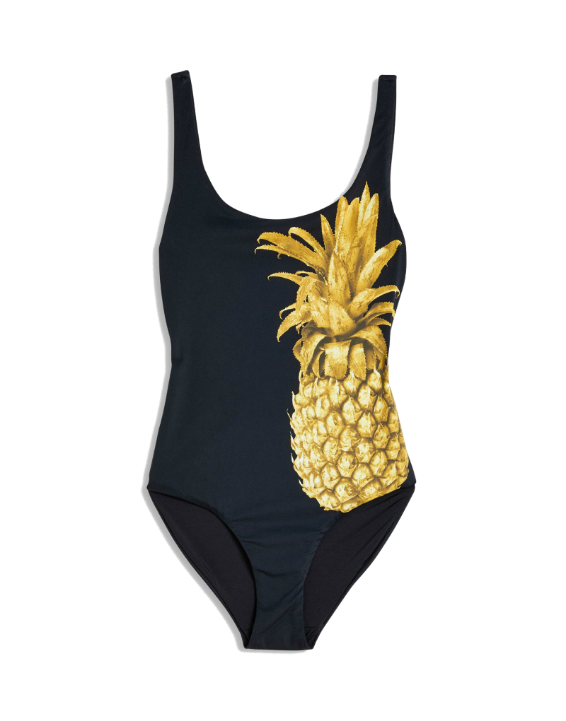 Onia Kelly one piece swimsuit in Pineapple print