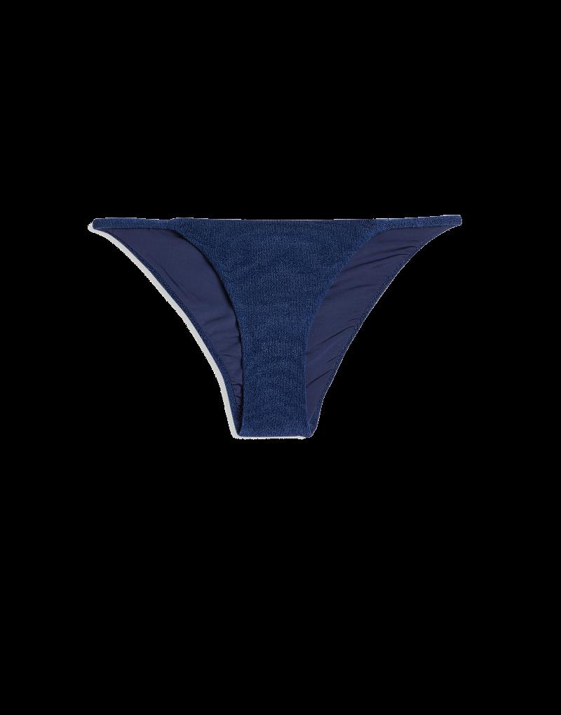 Onia Rochelle Navy Terry bikini bottom