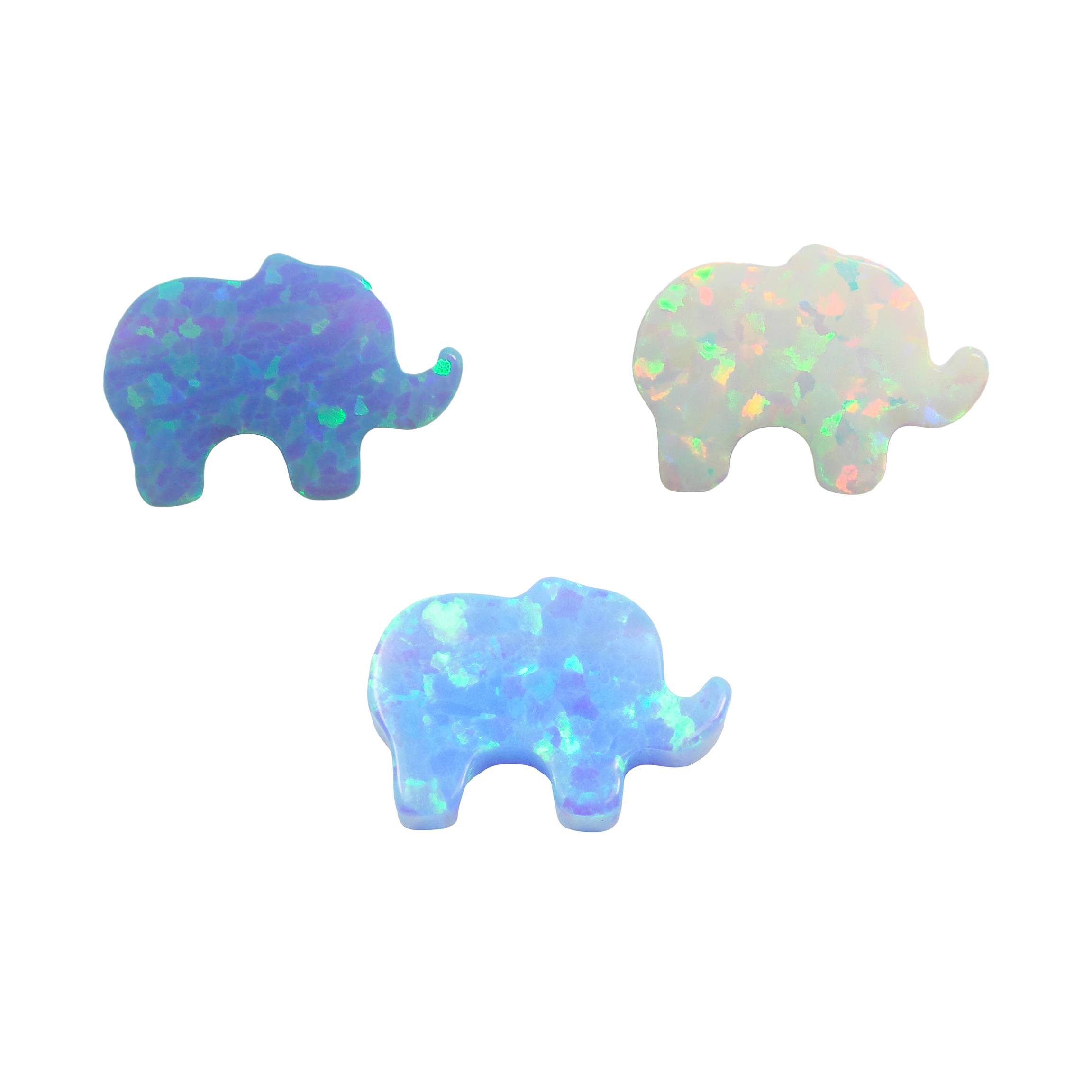 Elephant Charms in Opal