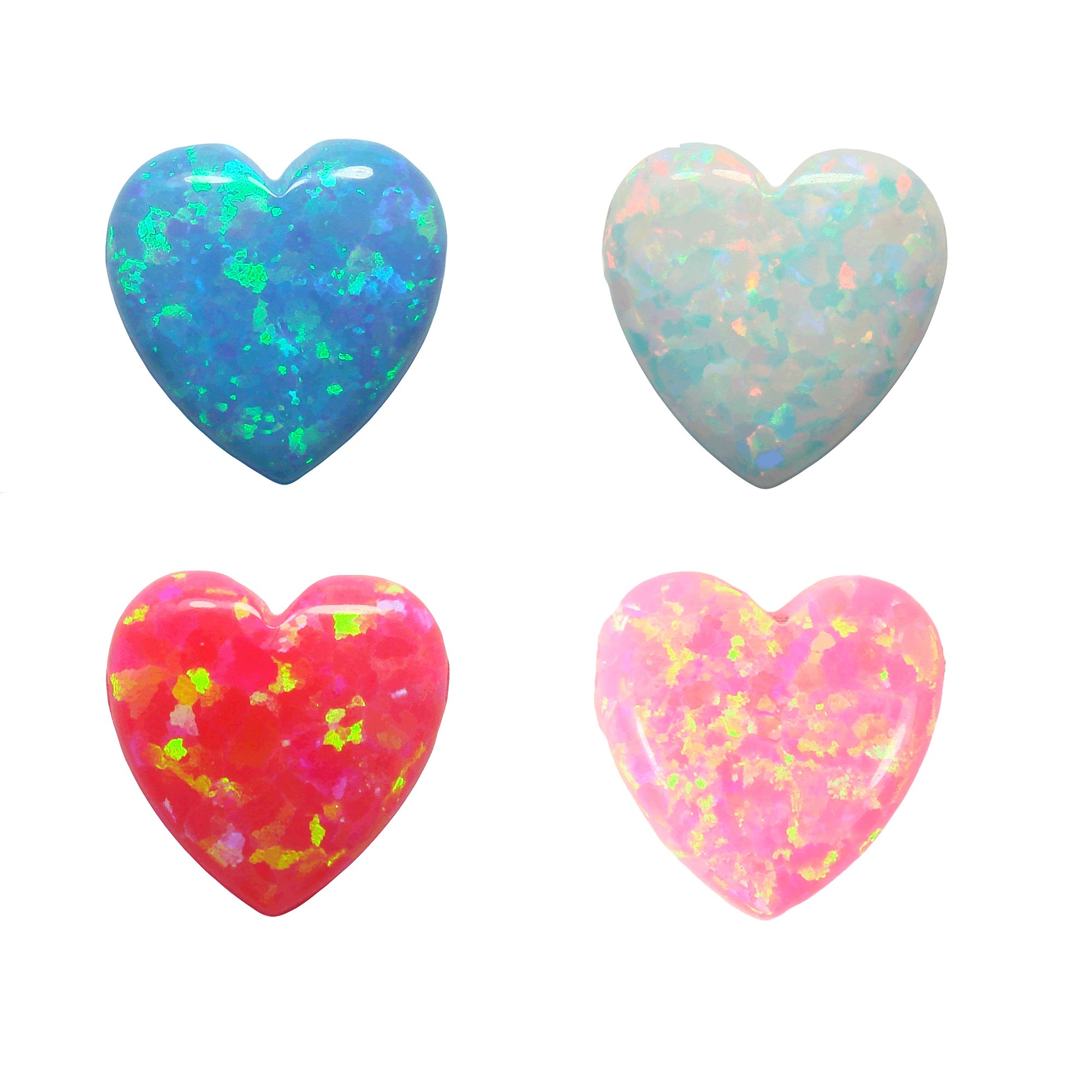 Opal Hearts Pendants