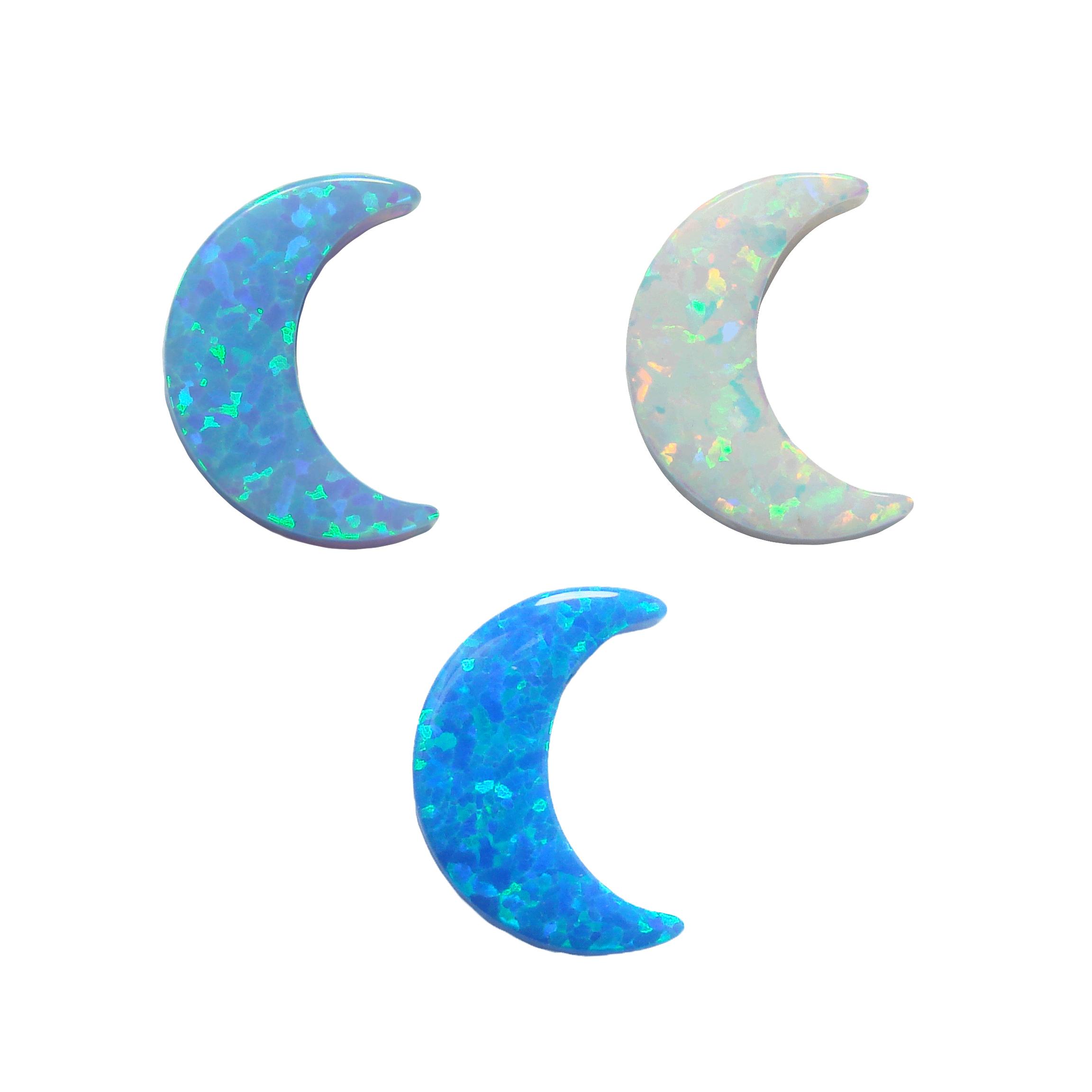Opal Moon Charm Pendant