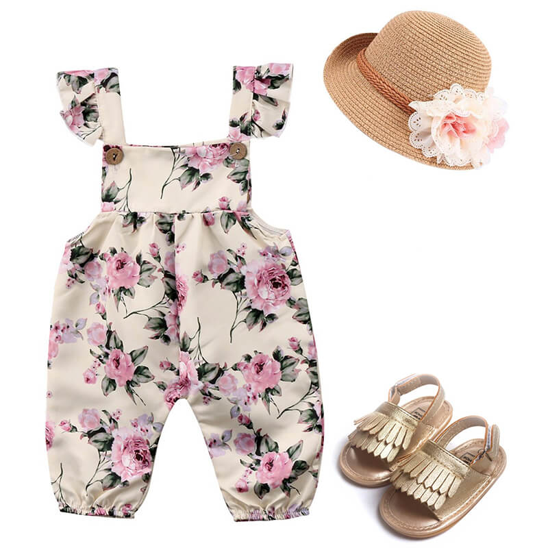 Baby Girl Floral Outfit Set