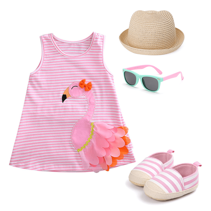 Baby Girl Flamingo Outfit Set